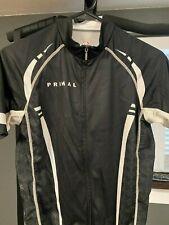 Men's Primal Cycling Jersey Size Medium Black White Racecut Fit