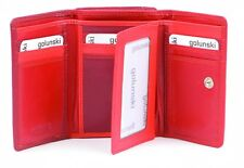 Golunski Red Leather Wallet & Purse : Real leather