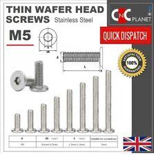 M5 Ultra Thin Wafer Flat Head Low profile Screws Bolt Allen Key Stainless Steel