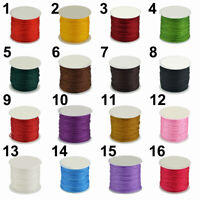 45m/Roll Waxed Cotton Cord Wire Beading Macrame String Jewelry DIY 0.8mm