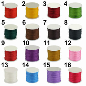 45m 0.8mm Waxed Cotton Cord Wire Beading Macrame String Jewelry DIY