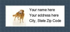"""Golden Retriever Return Address Labels  - Personalized """"BUY 3 GET ONE FREE"""""""