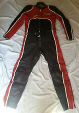 JOHNNY CECOTTO GIUDICI AMR 2 PCS MOTORCYCLE LEATHER SUIT SZ IT 56 VINTAGE 70's