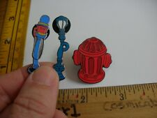 Street lamps and Fire Hydrants 3 pins Toontown Disney Vintage Sign Disney Pin!