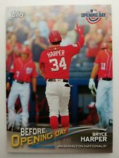 """2018 Topps Opening Day """"BEFORE Opening Day"""" #BOD-BH Bryce Harper -Nationals"""