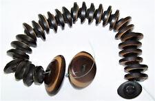 Vintage Sewing Buttons - Lot of 30 CARVED VEGETABLE IVORY - Costumer Designer