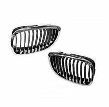 Genuine BMW E46 325Ci 330Ci Left + Right Front Grille Chrome Frame Grill OEM