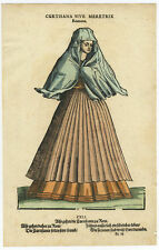 Antique Print-COURTESAN-COSTUME-PROSTITUTE-WOMAN-ITALY-ROME-Weigel-Amman-1577