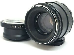 HELIOS 44-2 58mm f./ 2 Lens M 4/3 Micro MFT Mount Olympus Lumix SERVICED