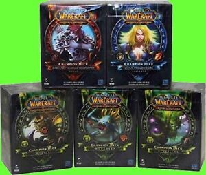 Complete Set of All 5 World of Warcraft Spring 2012 Champion Deck WoW TCG CCG