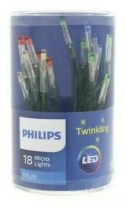 TWINKLING MULTI  battery operated 18 Micro Lights LED PHILIPS Christmas Décor