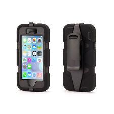 Coque Etui intégrale Militaire Noir Apple Iphone  SE 5 et 5S + film