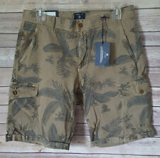 GANT Flower Cargo Shorts Men's Dark Khaki Size 30 NWT