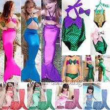 infantil SUMERGIBLE SIRENA COLA SET de bikini Playa Bañador Disfraz