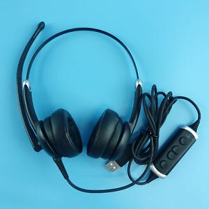 VXi Envoy UC Stareo Headset UC 3031U with Microphone, Black & Silver #U3557