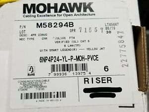 Belden Mohawk M58294 23/4P 6LAN CAT6 UTP Solid Riser Network Cable Yellow /100ft