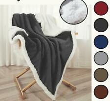 2020 Flannel Fleece Sherpa Blanket Twin Queen Throw Thickened Soft Plush Bed Rug
