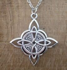 Witches Protection Knot necklace pendant + gift Box Celtic Amulet Wicca Talisman