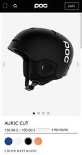 POC Auric Cut Ski Snow Helmet Matte Black Park and Pipe Horse Riding Helmet