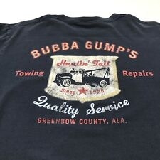 Bubba Gump T Shirt Blue Size Small Towing Hauling Repairs Greenbow County Ala.