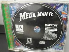 Mega Man 8 Playstation One Video Game NO MANUAL Black Bottom