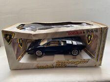 1/18 Tonka Polistil Black Lamborghini Countach 5000 quattrovalvole LP