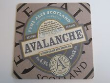 Brewery COASTER: FYNE Ales Brewery Avalanche Cask Ale ~ Argyll, SCOTLAND Brewery