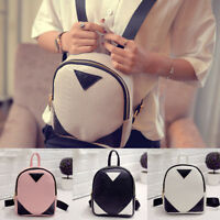 New Women's Small Mini Faux Leather Backpack Rucksack Daypack Schoolbag Satchel