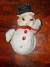 "Vintage ""Paper Mache"" Snowman Japan Early Christmas Ornament"