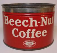 Old Vintage 1950s BEECH NUT KEYWIND COFFEE TIN 1 POUND CANAJOHARIE NEW YORK USA