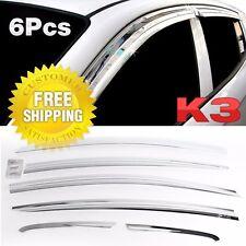 Chrome Window Sun Vent Visor Rain Guards 6P K745 For KIA 2013-17 Forte K3 Sedan