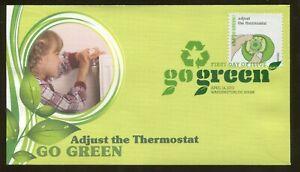 2011 Washington DC - Go Green - Adjust The Thermostat - Fleetwood FDC