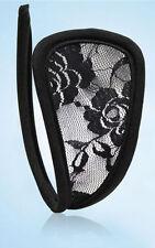C-string c string invisible en dentelle noire SEXY glamour burlesque strip