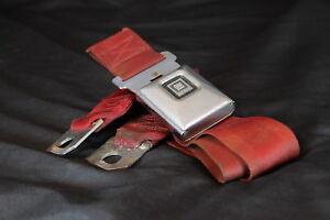 69 70 71 72 Cadillac Deville Eldorado Seat Belt Buckle Receiver Deluxe Set RED