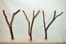 Manzanita Bird Perches Set of Three w/ hardware Multibranch * Quality Set