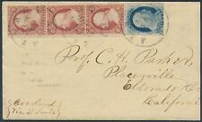 #24, 26 STRIP OF 3 ON COVER WITH ENCLOSURE BS6522