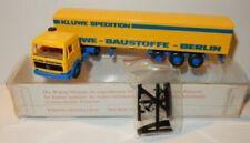 Semi-remorques miniatures jaunes Mercedes
