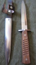 WWI German Infantry Trench Boot Fighting Knife & Carry Scabbard
