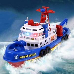 Electric Water-Spraying Fire Boat With Light And Music Kids Electric Toys NEW