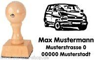 VW Bus T4 a - Bus - Motiv-Holz-Stempel - mit Wunschtext