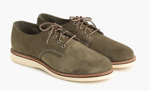 Red Wing for J Crew Olive Green Suede Oxfords shoes 10 US  G8898  / $250