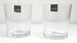Whiskey Saft Bleikristall Gläser Set von 2 Stück Rogaska Handgefertigt Tumbler