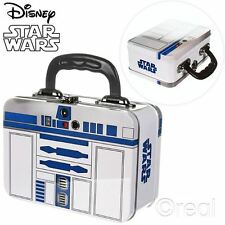 New Star Wars R2-D2 Tin Tote Lunch Box  School Metal Official Licensed