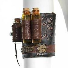 Wristband Men Women Steampunk Skinny Chest Dress Accessories Leather Gothic