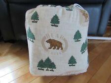 NWOT Mainstays Full Flannel 4-piece Sheet Set 100% Cotton Bear Creek Fish Moose