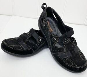 Planet Shoes Black Barmy Sandal Closed Toe Leather Athletic Size 7.5 elastic EUC