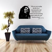 Wall Art Sticker Quote Decal Vinyl Transfer Kitchen Bedroom Bob Marley Life