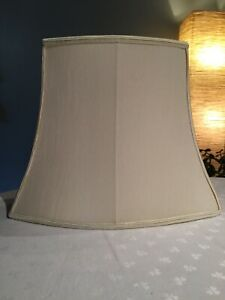 """COUNTRY HOUSE RECTANGULAR IVORY CLASSIC TABLE LAMP SHADE  10 3/4"""" TALL"""
