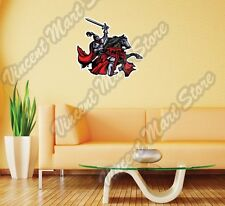 "Knight Horse Fighting Medieval Gift Wall Sticker Room Interior Decor 22""X22"""