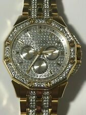 BULOVA Crystal Silver Dial Yellow Gold-tone Men's Watch Item No. 98C126